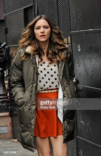 Katharine McPhee filming on location for 'Smash' on January 9 2013 in New York City