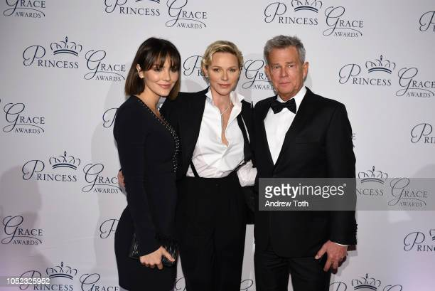 Katharine McPhee HSH Princess Charlene of Monaco and David Foster attend the 2018 Princess Grace Awards Gala at Cipriani 25 Broadway on October 16...
