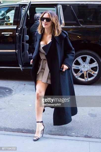 Katharine McPhee is seen in Midtown on November 21 2017 in New York City