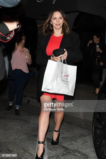 Katharine McPhee is seen on February 02 2018 in Los Angeles California
