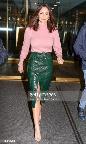 Katharine McPhee is seen on November 19 2019 in New York City