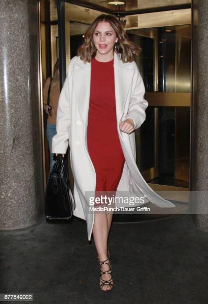 Katharine McPhee is seen on November 22 2017 in New York City