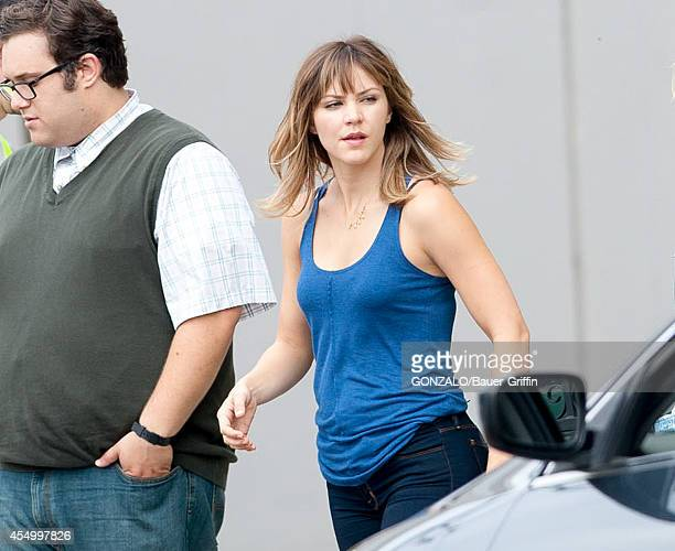 Katharine McPhee is seen on the set of 'Scorpion' on September 08 2014 in Los Angeles California