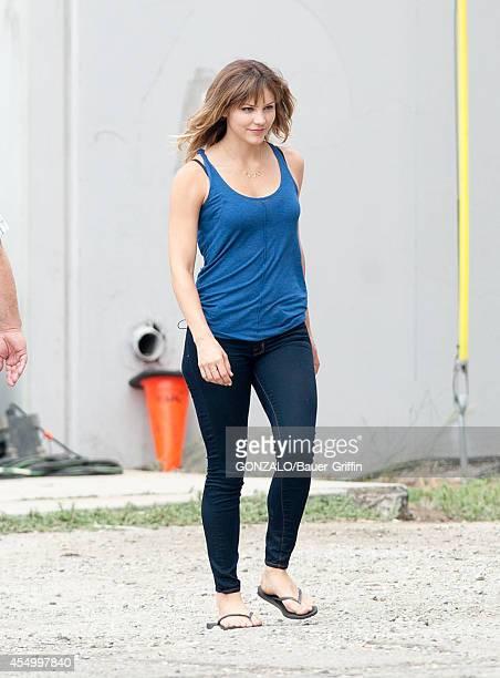 Katharine McPhee is seen on the set of 'Scorpion' on September 08 2014 in Los Angeles California