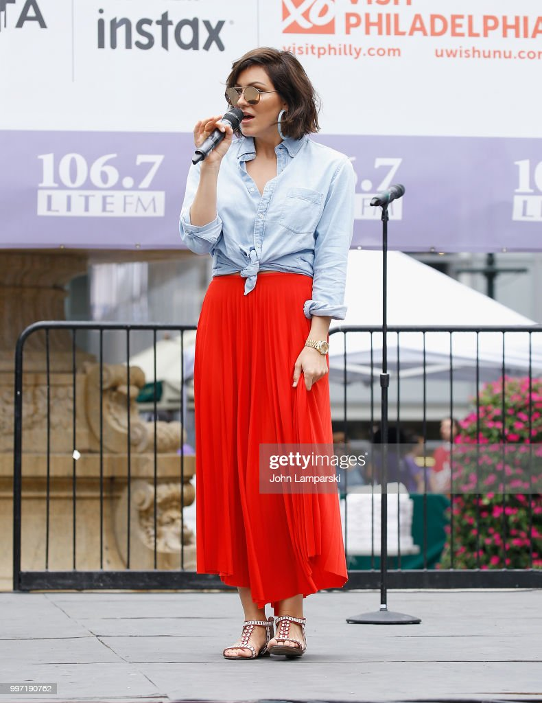 Katharine McPhee performs during 106.7 LITE FM's Broadway in Bryant Park on July 12, 2018 in New York City.