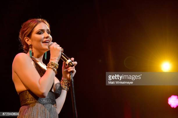 Katharine McPhee performs onstage at the SAGAFTRA Foundation Patron of the Artists Awards 2017 at the Wallis Annenberg Center for the Performing Arts...