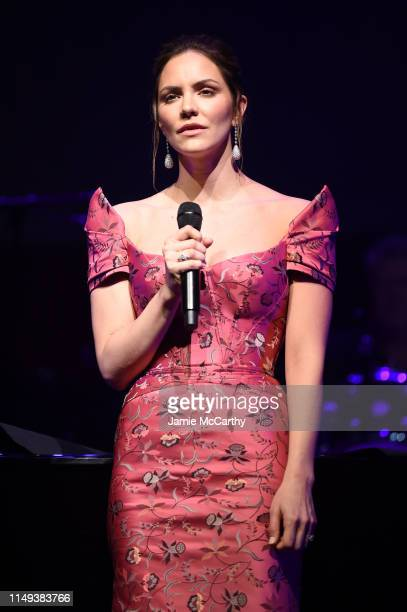 Katharine McPhee performs onstage during the Hot Pink Party hosted by the Breast Cancer Research Foundation at Park Avenue Armory on May 15 2019 in...