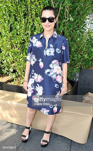Katharine Polk poses backstage at the Houghton spring 2013 fashion show during MercedesBenz Fashion Week at The Standard Hotel The High Line Room on...