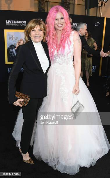 Katharine Ross and Cleo Rose Elliott attend the premiere of Warner Bros Pictures' A Star Is Born at The Shrine Auditorium on September 24 2018 in Los...