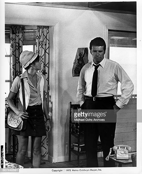 Katharine Ross and James Garner in a house in a scene from the MGM movie They Only Kill Their Masters circa 1972