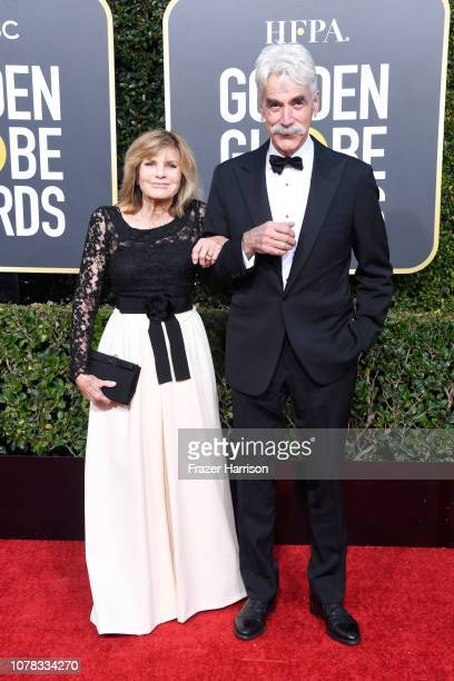 Katharine Ross and Sam Elliott attend the 76th Annual Golden Globe Awards at The Beverly Hilton Hotel on January 6 2019 in Beverly Hills California