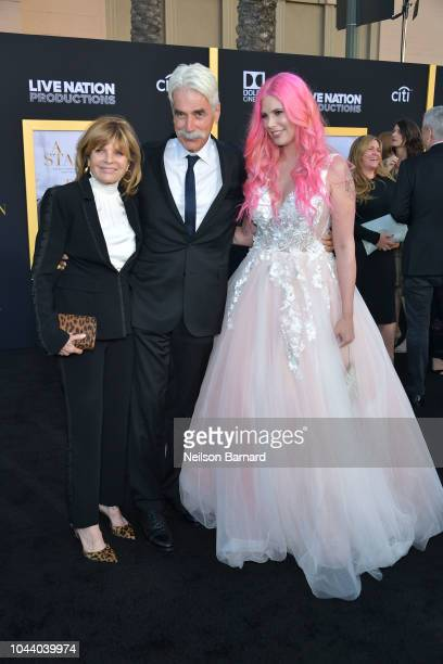 Katharine Ross Sam Elliott and Cleo Rose Elliott arrive at the Premiere Of Warner Bros Pictures' 'A Star Is Born' at The Shrine Auditorium on...