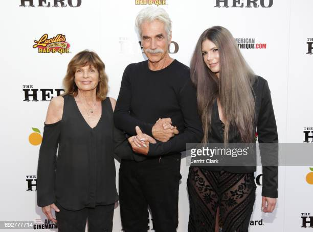 Katharine Ross Sam Elliott and daughter Cleo Elliot attend the Premiere Of The Orchard's The Hero at the Egyptian Theatre on June 5 2017 in Hollywood...