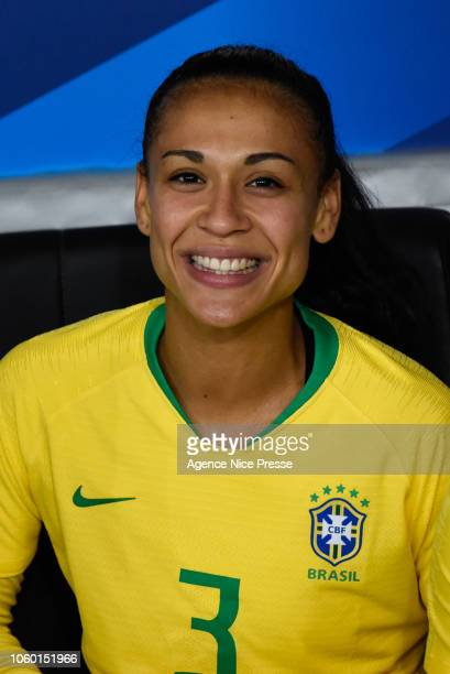 Kathelien Feitoza of Brazil during the International Women match between France and Brazil at Allianz Riviera Stadium on November 10 2018 in Nice...