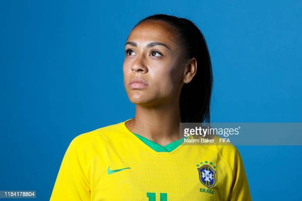 Kathellen of Brazil poses for a portrait during the official FIFA Women's World Cup 2019 portrait session at Grand Hotel Uriage on June 06 2019 in...