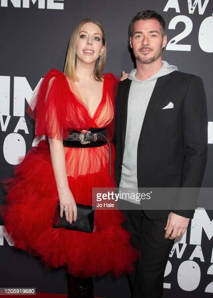 Katherin Ryan and partner Bobby Kootstra attend the NME Awards 2020 at O2 Academy Brixton on February 12 2020 in London England