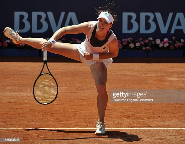 Katherin Woerle from Germany in action during a match against Gisela Dulko from Argentina during the XX edition of WTA Bogota Open on February 14...