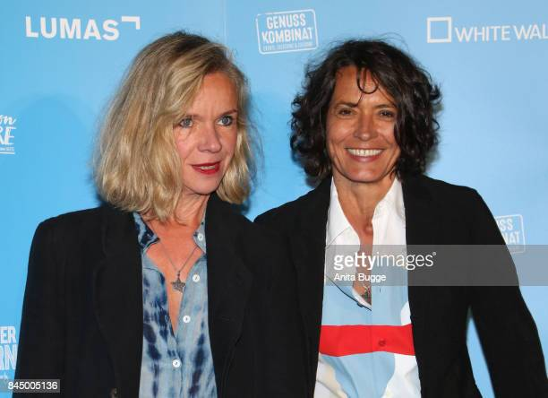 Katherina Schnitzler and Ulrike Folkerts attend the opening of the exhibition 'Gabo Fame' at HumboldBox on September 9 2017 in Berlin Germany