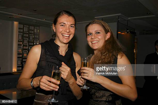 Katherine Aillard and Marianne Cros attend Gordon Ramsay Restaurant Opening at London Hotel at The London Hotel on November 14 2006 in New York City