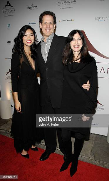 Katherine An Jim Burke and Jane Burke attend the 10th Anniversary of Crustacean Restaurant Beverly Hills on January 25 2008 in Beverly Hills...