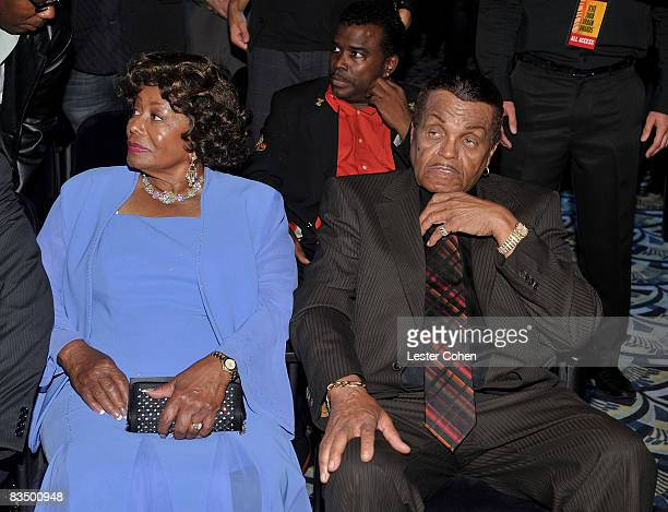 Katherine and Joe Jackson attend the 2008 BMI Urban Awards held at the Wilshire Theatre on September 4 2008 in Los Angeles California