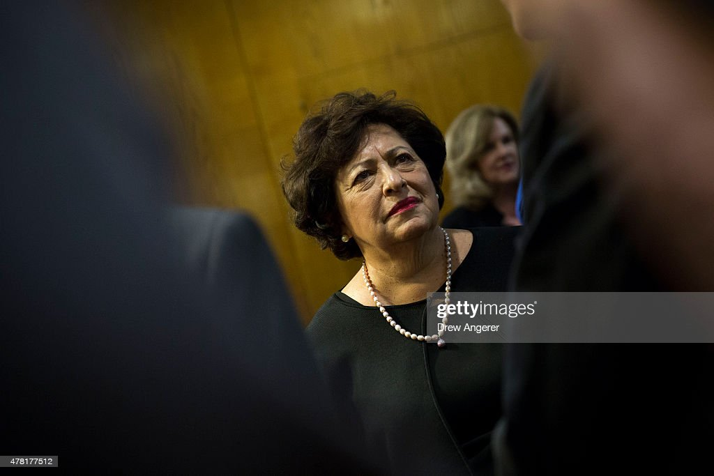 Katherine Archuleta, director of Office of Personnel Management, arrives for a Senate Appropriations Financial Services and General Government Subcommittee hearing to review information technology spending and data security at the U.S. Office of Personnel Management, on Capitol Hill, June 23, 2015 in Washington, DC. FBI Director James Comey recently told Senators in a closed-door meeting that the personal data of an estimated 18 million current and former federal employees were affected by a recent cyber breach at the Office of Personnel Management.