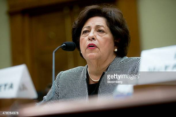 Katherine Archuleta director of the US Office of Personnel Management speaks during a House Oversight and Government Reform Committee hearing on the...