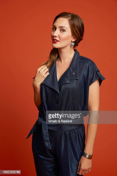 Katherine Barrell from Syfy's 'Wynonna Earp' poses for a portrait in the Getty Images Portrait Studio powered by Pizza Hut at San Diego 2018 Comic...