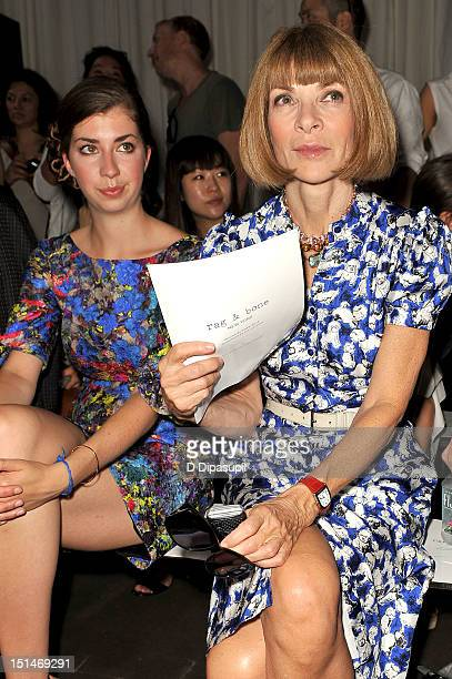 Katherine Bee Shaffer and EditorinChief of American Vogue Anna Wintour attend the Rag Bone Women's Collection fashion show during MercedesBenz...