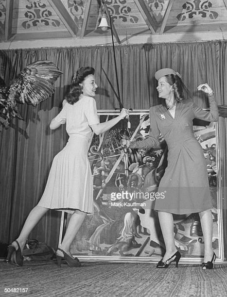 Katherine Booth and Jane Randolph at the John Barrymore Auction