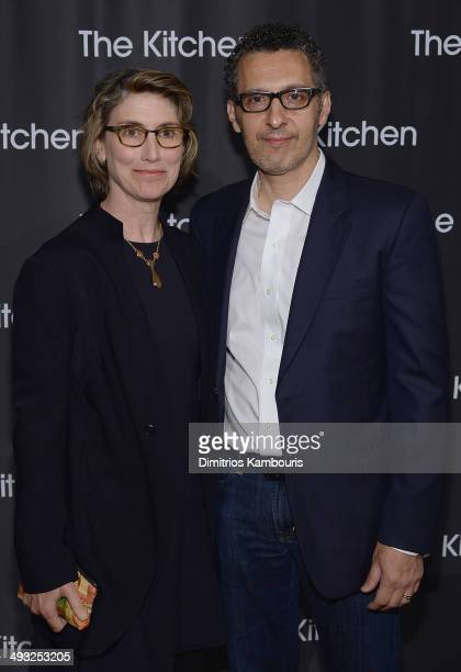 Katherine Borowitz and John Turturro attend the Kitchen Spring Gala Benefit 2014 at Cipriani Wall Street on May 22 2014 in New York City