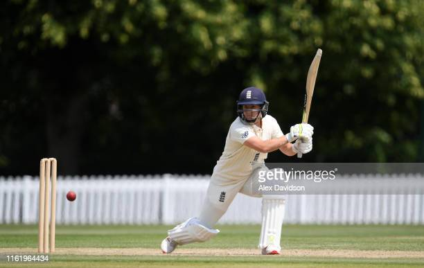 Katherine Brunt of England bats during Day Three of the International Friendly match between England Women and Australia A Women at Millfield School...