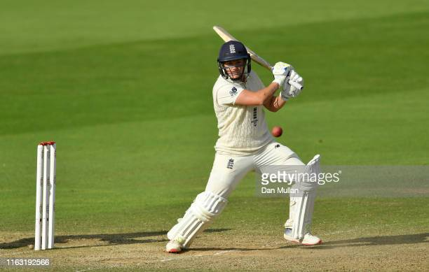 Katherine Brunt of England bats during day three of the Kia Women's Test Match between England Women and Australia Women at The Cooper Associates...