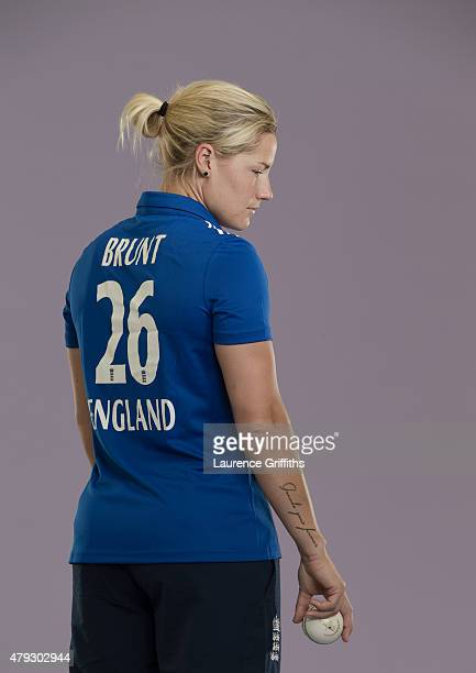 Katherine Brunt of England poses for a portrait at the National Cricket Performance Centre on July 1 2015 in Loughborough England