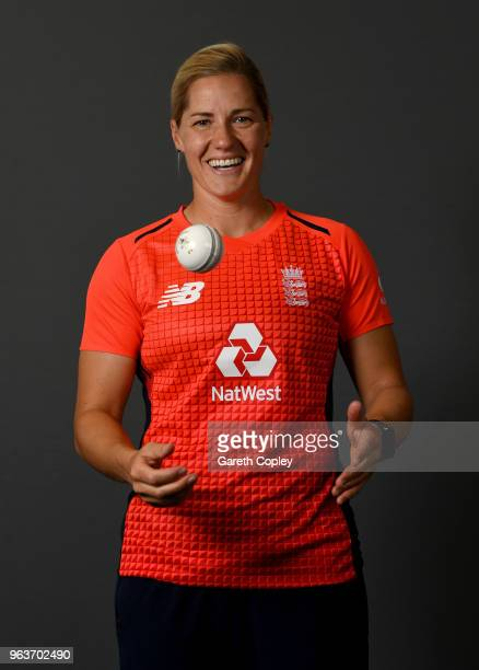 Katherine Brunt of England poses for a portrait on May 30 2018 in Loughborough England