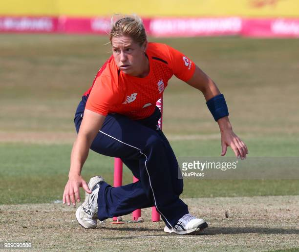 Katherine Brunt of England Women during International Twenty20 Final match between England Women and New Zealand Women at The Cloudfm County Ground...