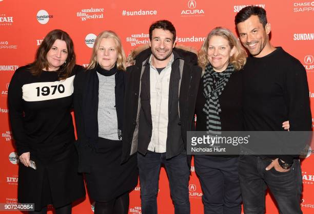 Katherine Butler Mary Jane Skalski Bart Layton Derrin Schlesinger Dimitri Doganis attend the 'American Animals' Premiere during the 2018 Sundance...