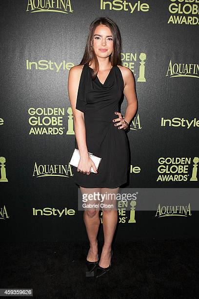 Katherine C Hughes arrives for The Hollywood Foreign Press Association And InStyle Celebrate The 2015 Golden Globe Award Season Arrivals at Fig Olive...