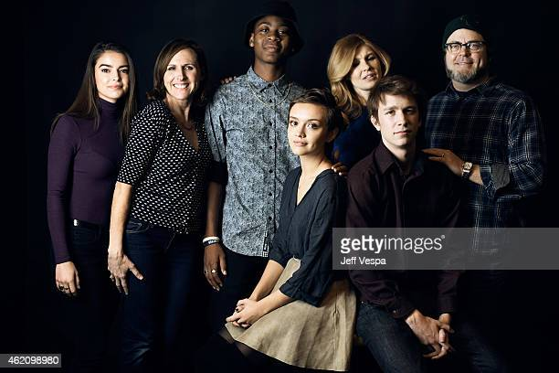 Katherine C Hughes Molly Shannon RJ Cyler Olivia Cooke Connie Britton Thomas Mann and Nick Offerman from 'Me Earl the Dying Girl' pose for a portrait...