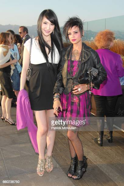 Katherine Cheng and Jess Roth attend GILT GROUPE LA Cocktail Party at Thompson Hotel Rooftop Bar on June 18 2009 in Beverly Hills California