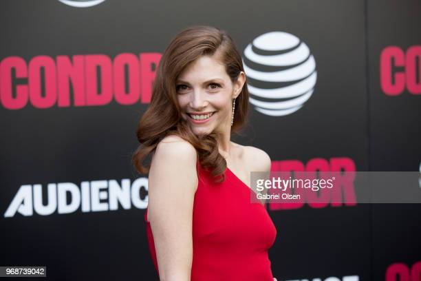 Katherine Cunningham arrives for the premiere of ATT Audience Network's Condor at NeueHouse Hollywood on June 6 2018 in Los Angeles California