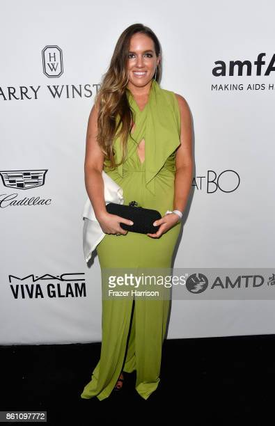 Katherine Davis attends the amfAR Gala at Ron Burkle's Green Acres Estate on October 13 2017 in Beverly Hills California