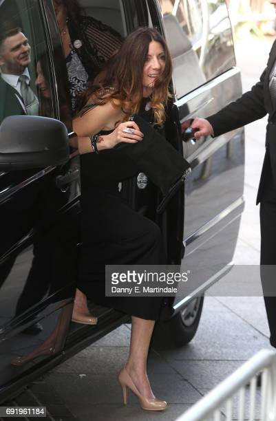 Katherine Dow Blyton seen arriving at the British Soap Awards on June 3 2017 in Manchester England