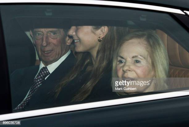 Katherine Duchess of Kent and Prince Edward Duke of Kent attend a Christmas lunch for the extended Royal Family at Buckingham Palace on December 20...