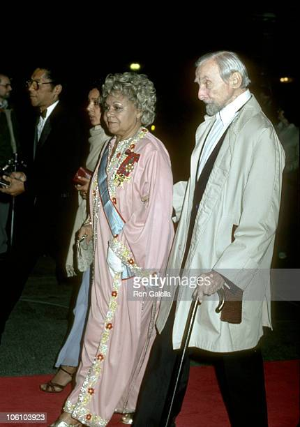 Katherine Dunham and guest during Dinner for the Kennedy Center Honorees December 3 1983 at State Department in Washington DC United States