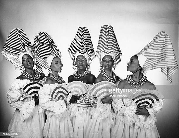 Katherine Dunham and her dance company photographed in New York in 1987
