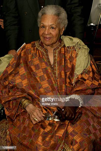 Katherine Dunham during The Agronomist New York City Benefit Premiere for the NCHR Radio Haiti at Chelsea West Cinemas in New York City New York...
