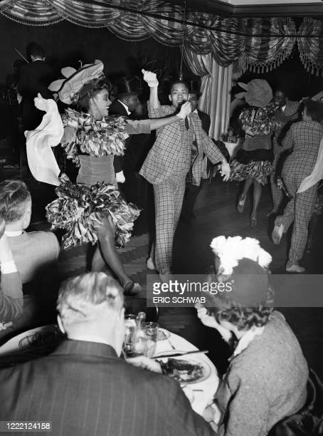 Katherine Dunham, one of the most famous dancer and choregrapher of the African-American ballet, performs with her troop her revue entitled Bal Nègre...