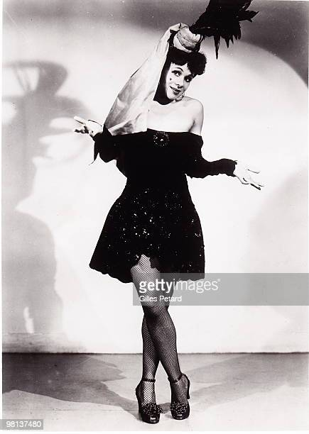 Katherine Dunham poses for a studio portrait c 1946 in the United States