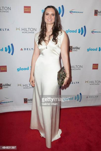 Katherine Fairfax Wright arrives for the the 25th Annual GLAAD Media Awards Dinner and Show on April 12 2014 in Los Angeles California